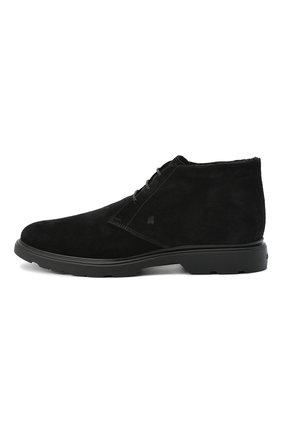 Мужские замшевые ботинки HOGAN черного цвета, арт. HXM3930W872HG0 | Фото 3