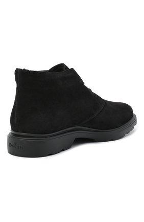 Мужские замшевые ботинки HOGAN черного цвета, арт. HXM3930W872HG0 | Фото 4
