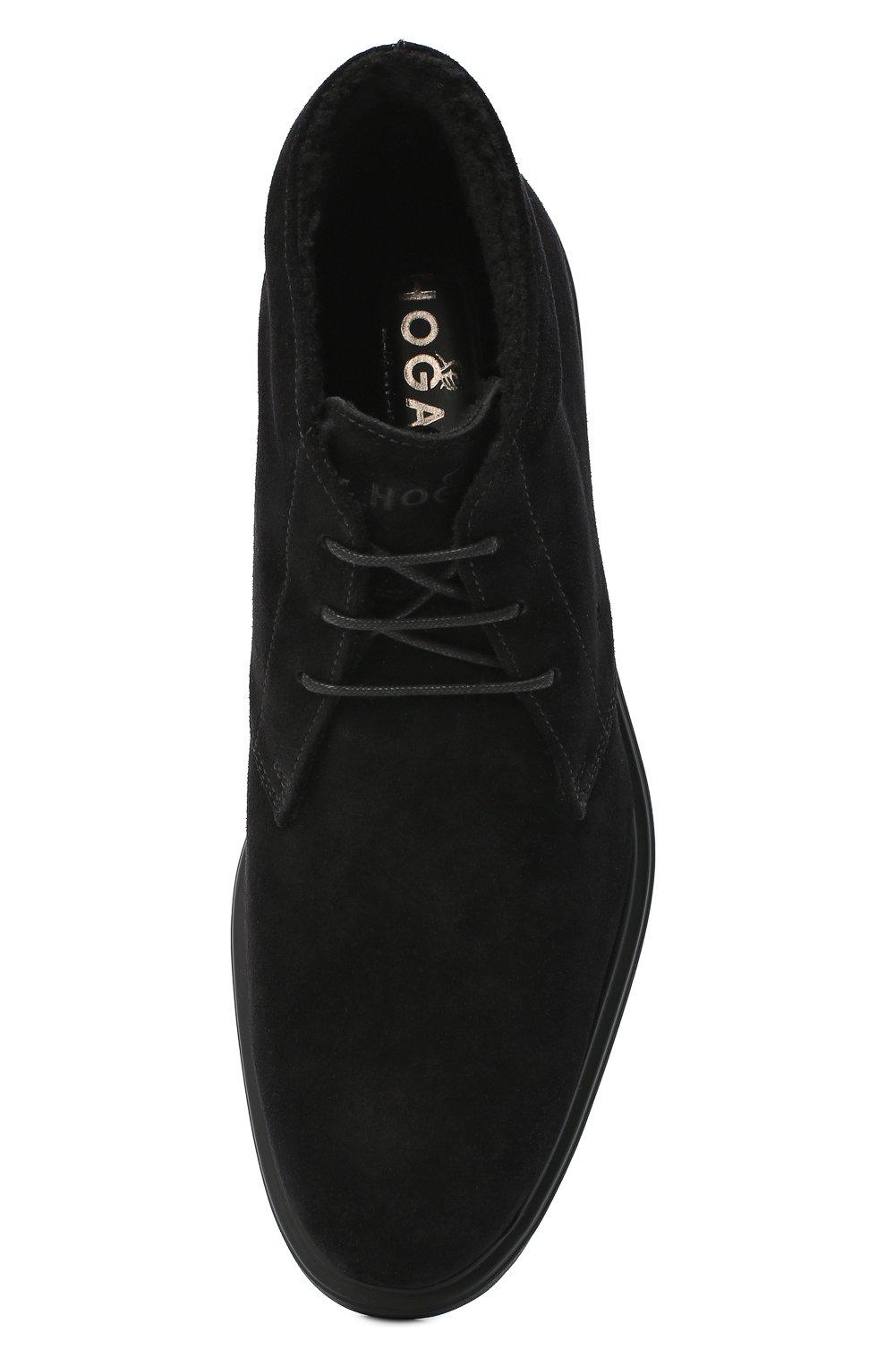 Мужские замшевые ботинки HOGAN черного цвета, арт. HXM3930W872HG0 | Фото 5