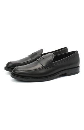 Мужские кожаные пенни-лоферы TOD'S черного цвета, арт. XXM62C0DI200LW | Фото 1