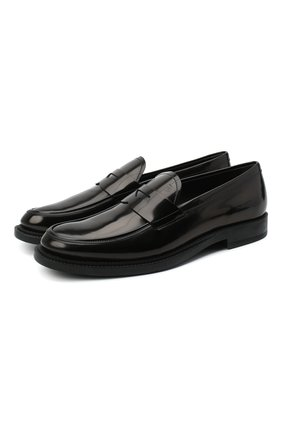 Мужские кожаные пенни-лоферы TOD'S черного цвета, арт. XXM62C0DI20AKT | Фото 1