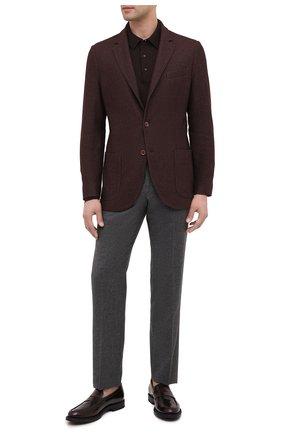 Мужские кожаные пенни-лоферы TOD'S бордового цвета, арт. XXM62C0DI20AKT | Фото 2