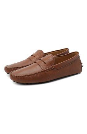 Мужские кожаные мокасины TOD'S коричневого цвета, арт. XXM64C00640VYP | Фото 1
