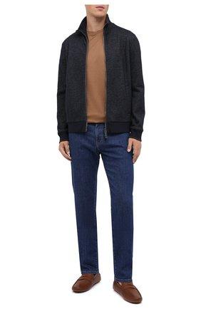 Мужские кожаные мокасины TOD'S коричневого цвета, арт. XXM64C00640VYP | Фото 2