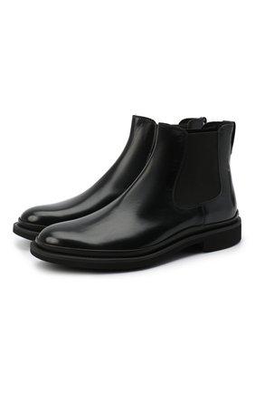 Мужские кожаные челси TOD'S черного цвета, арт. XXM89B0CD50LYG | Фото 1