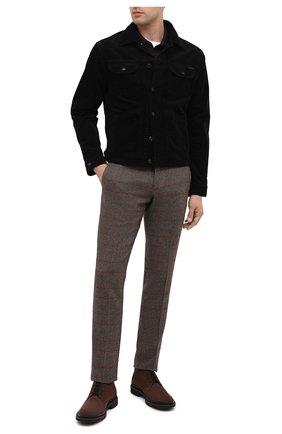 Мужские замшевые ботинки TOD'S коричневого цвета, арт. XXM89B0DM50HSE | Фото 2