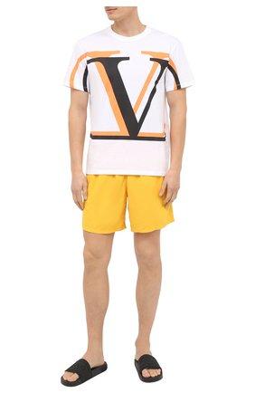Детского плавки-шорты VILEBREQUIN желтого цвета, арт. MOOE9A00/118 | Фото 2