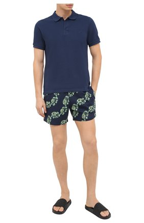 Мужские плавки-шорты VILEBREQUIN темно-синего цвета, арт. MSOU0D18/390 | Фото 2