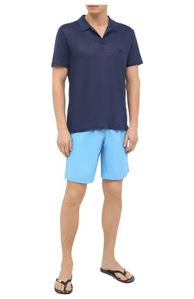 Детского плавки-шорты VILEBREQUIN голубого цвета, арт. OKOU0D16/380 | Фото 2