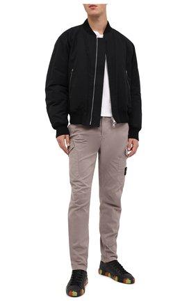 Мужские кожаные кеды HIDE&JACK черного цвета, арт. IBKLBLKFYD | Фото 2
