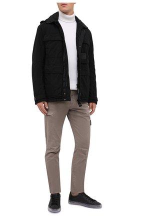 Мужские кожаные кеды HIDE&JACK черного цвета, арт. IBKLBLKTRS | Фото 2