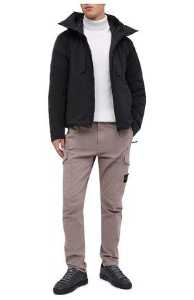 Мужские кожаные кеды HIDE&JACK темно-серого цвета, арт. IBKLDGRBLK-MTB | Фото 2