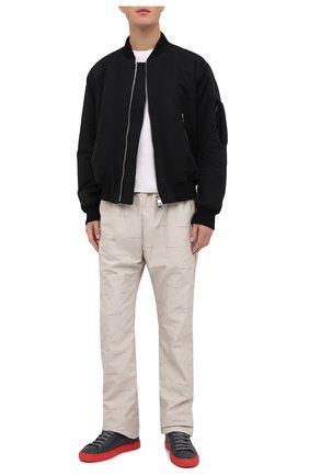 Мужские кожаные кеды HIDE&JACK темно-серого цвета, арт. IBKLDGRRED | Фото 2