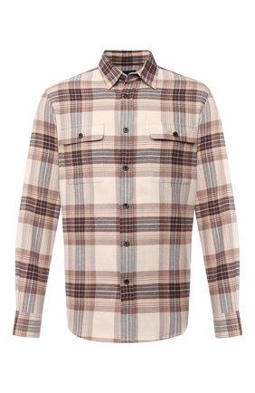 Мужская хлопковая рубашка RALPH LAUREN разноцветного цвета, арт. 790806137 | Фото 1