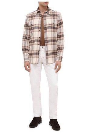Мужская хлопковая рубашка RALPH LAUREN разноцветного цвета, арт. 790806137 | Фото 2