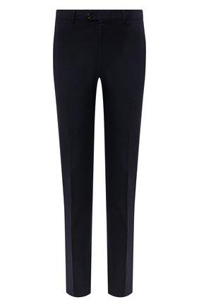 Мужские хлопковые брюки RALPH LAUREN темно-синего цвета, арт. 790802188 | Фото 1 (Материал внешний: Хлопок; Длина (брюки, джинсы): Стандартные; Случай: Повседневный; Стили: Кэжуэл)