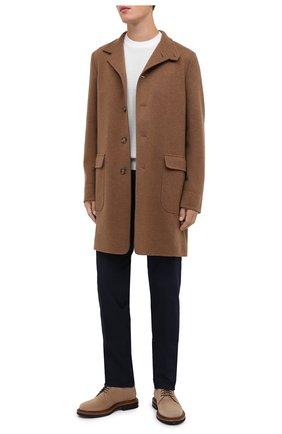 Мужские хлопковые брюки RALPH LAUREN темно-синего цвета, арт. 790802188 | Фото 2 (Материал внешний: Хлопок; Длина (брюки, джинсы): Стандартные; Случай: Повседневный; Стили: Кэжуэл)