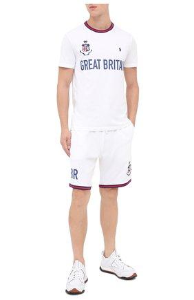 Мужская хлопковая футболка POLO RALPH LAUREN белого цвета, арт. 710803522 | Фото 2