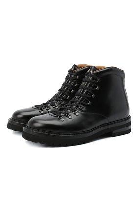 Мужские кожаные ботинки H`D`S`N BARACCO черного цвета, арт. 58517.4* | Фото 1