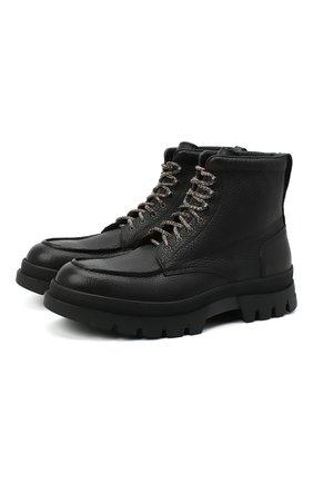 Мужские кожаные ботинки H`D`S`N BARACCO черного цвета, арт. 80504.NN.0* | Фото 1