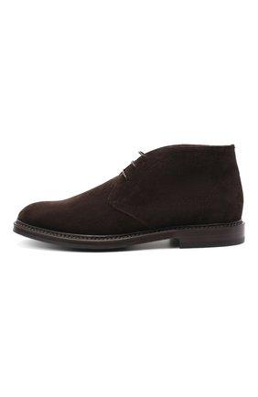 Мужские замшевые ботинки BRUNELLO CUCINELLI темно-коричневого цвета, арт. MZUJCAU892 | Фото 3