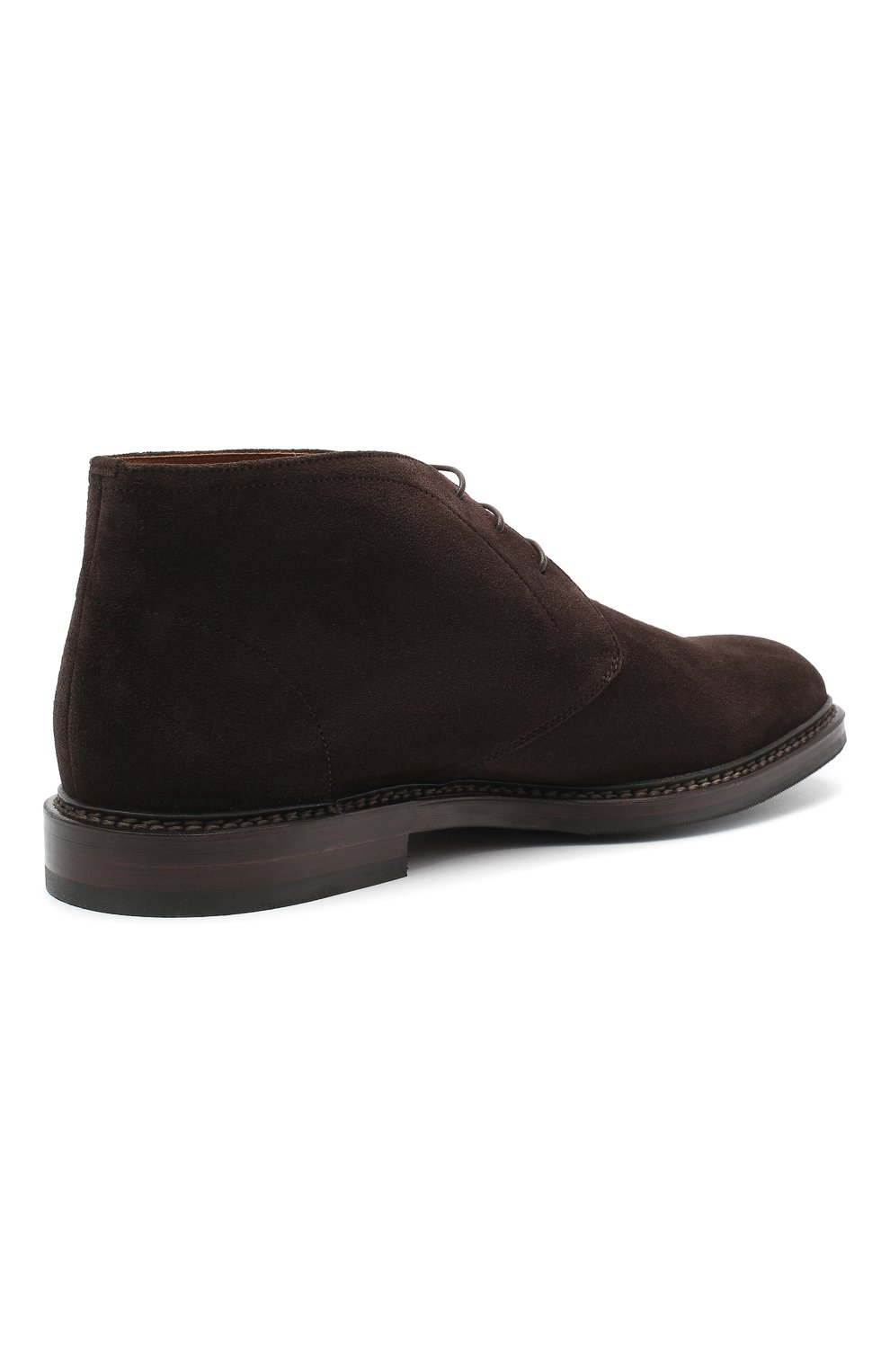 Мужские замшевые ботинки BRUNELLO CUCINELLI темно-коричневого цвета, арт. MZUJCAU892 | Фото 4