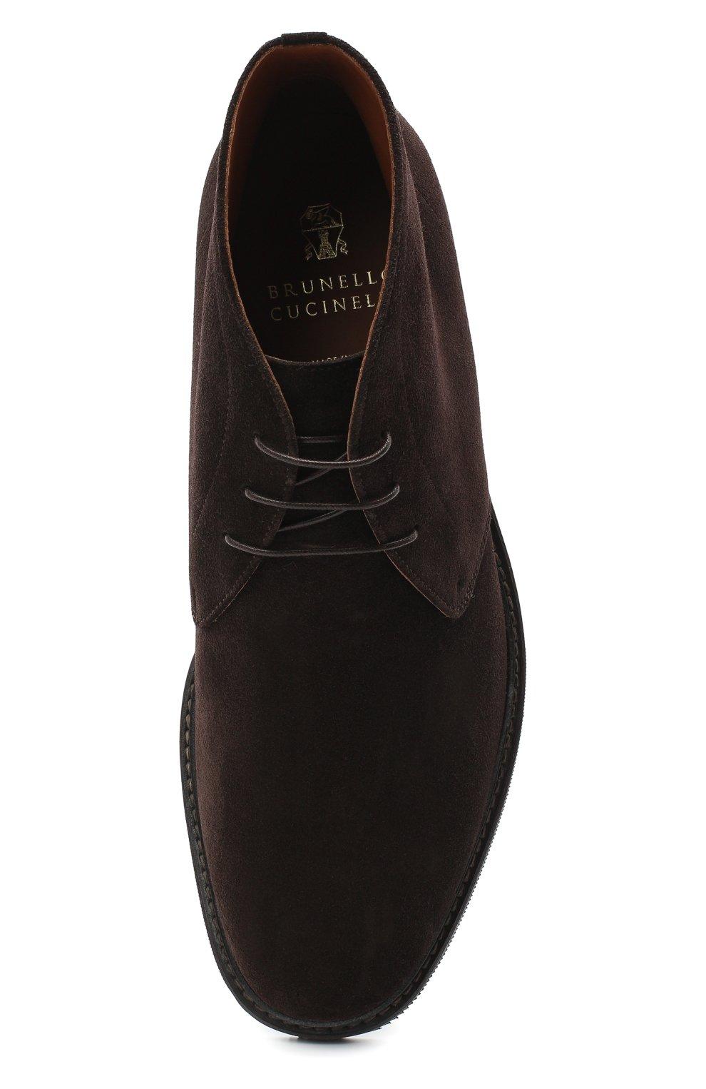 Мужские замшевые ботинки BRUNELLO CUCINELLI темно-коричневого цвета, арт. MZUJCAU892 | Фото 5