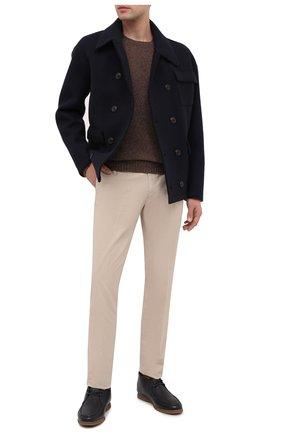Мужские кожаные ботинки BRUNELLO CUCINELLI темно-синего цвета, арт. MZUT0MB857 | Фото 2