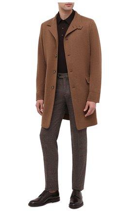 Мужской кожаные дерби BRUNELLO CUCINELLI темно-коричневого цвета, арт. MZUVRNU891 | Фото 2