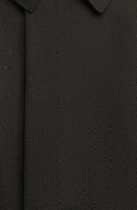 Мужской утепленный плащ KAZUYUKI KUMAGAI хаки цвета, арт. AC03-216 | Фото 6