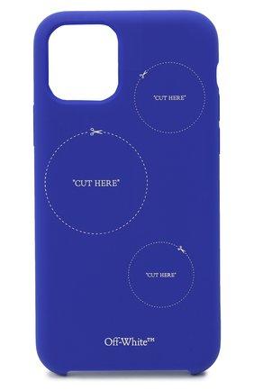 Мужской чехол для iphone 11 pro OFF-WHITE синего цвета, арт. 0MPA018F20PLA0054501 | Фото 1