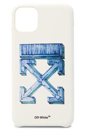 Мужской чехол для iphone 11 pro max OFF-WHITE белого цвета, арт. 0MPA019E20PLA0040145 | Фото 1