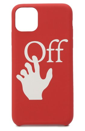Мужской чехол для iphone 11 pro max OFF-WHITE красного цвета, арт. 0MPA019F20PLA0012501 | Фото 1