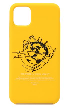 Мужской чехол для iphone 11 pro max OFF-WHITE желтого цвета, арт. 0MPA019F20PLA0041810 | Фото 1