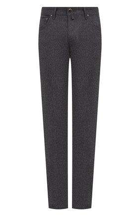 Мужской шерстяные брюки JACOB COHEN темно-серого цвета, арт. J688 W00L B 06968-N/54 | Фото 1