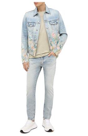 Мужская джинсовая куртка AMIRI голубого цвета, арт. F0M04173RD | Фото 2