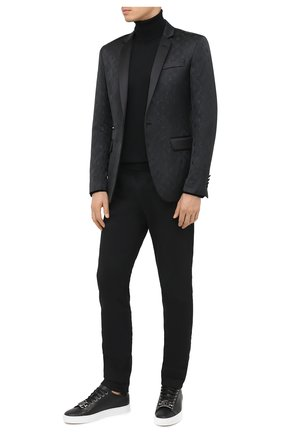 Мужские кожаные кеды hexagon PHILIPP PLEIN черного цвета, арт. F20S MSC2821 PLE006N | Фото 2