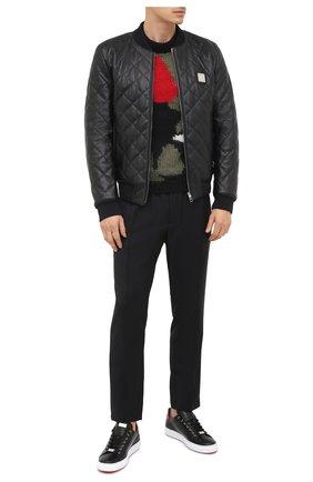 Мужские кожаные кеды PHILIPP PLEIN черного цвета, арт. F20S MSC2816 PLE045N | Фото 2