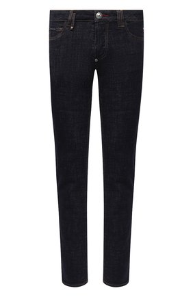 Мужские джинсы PHILIPP PLEIN темно-синего цвета, арт. F20C MDT2280 PDE004N | Фото 1