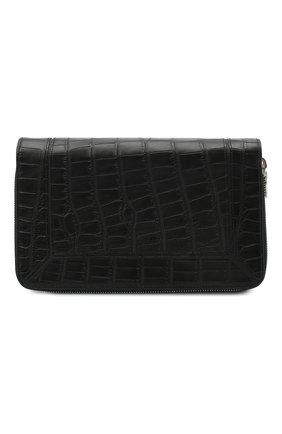 Мужской портмоне из кожи аллигатора ZILLI черного цвета, арт. MJL-0WT03-A0106/0002/AMIS | Фото 1