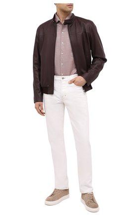 Мужская хлопковая рубашка LORO PIANA светло-коричневого цвета, арт. FAL4358 | Фото 2