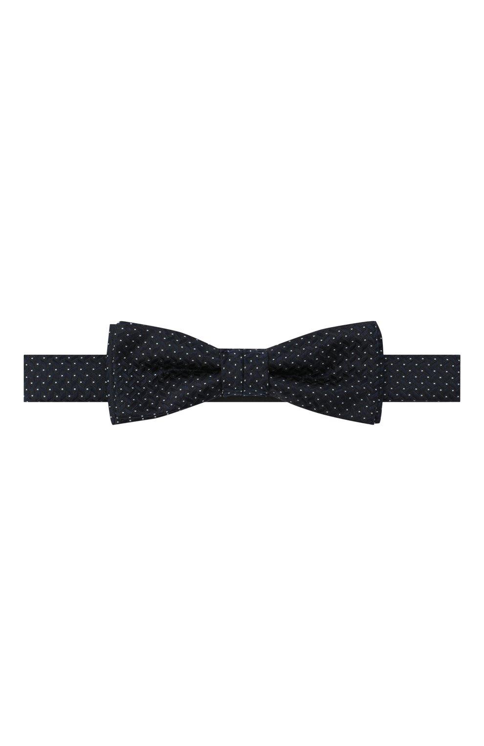 Мужской шелковый галстук-бабочка BOSS темно-синего цвета, арт. 50442017 | Фото 1