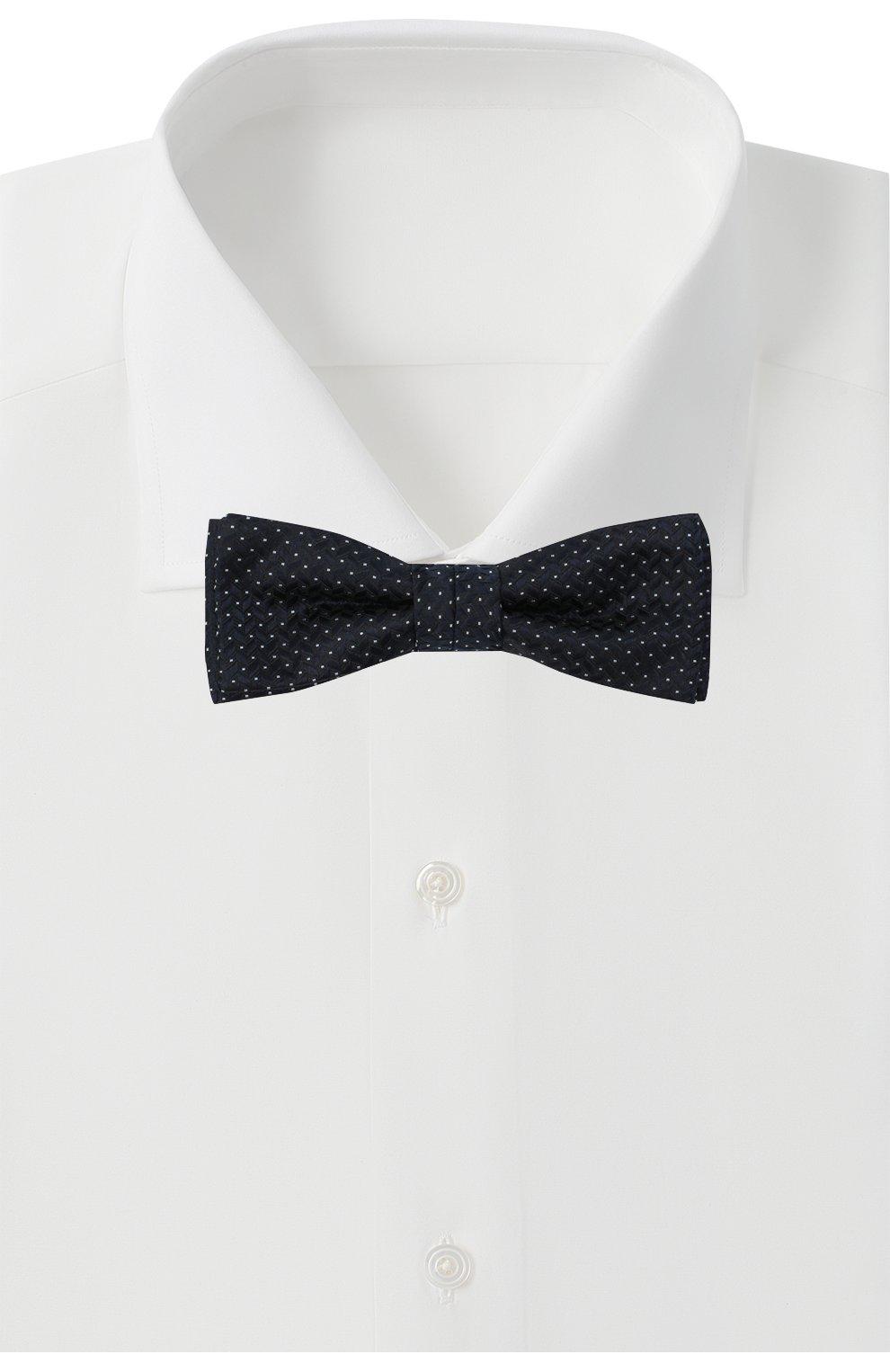 Мужской шелковый галстук-бабочка BOSS темно-синего цвета, арт. 50442017 | Фото 2