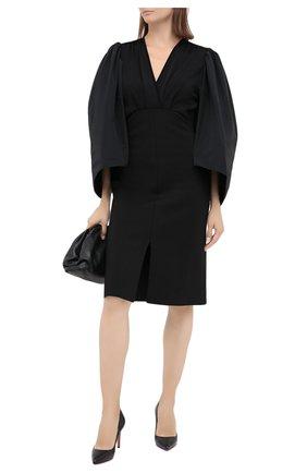 Женские кожаные туфли pigalle 85 CHRISTIAN LOUBOUTIN черного цвета, арт. pigalle 85 nappa shiny   Фото 2