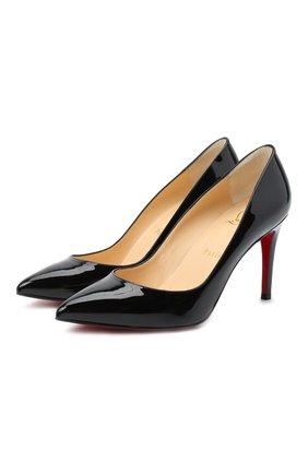 Женские кожаные туфли pigalle 85 CHRISTIAN LOUBOUTIN черного цвета, арт. pigalle 85 patent calf | Фото 1