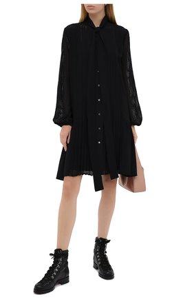 Женские кожаные ботинки who runs CHRISTIAN LOUBOUTIN черного цвета, арт. who runs flat calf | Фото 2