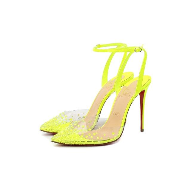 Комбинированные туфли Spikaqueen 100 Christian Louboutin