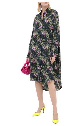 Женская кожаные туфли clare sling 80 CHRISTIAN LOUBOUTIN желтого цвета, арт. clare sling 80 patent fluo   Фото 2