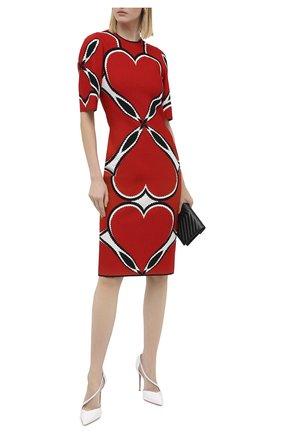 Женская кожаные туфли round and square 100 CHRISTIAN LOUBOUTIN белого цвета, арт. round and square 100 patent/kid | Фото 2