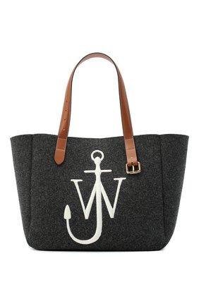 Женский сумка-тоут belt J.W. ANDERSON темно-серого цвета, арт. HB0243 FA0029 | Фото 1